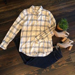 J. Crew Boy Fit Plaid Flannel Button Down